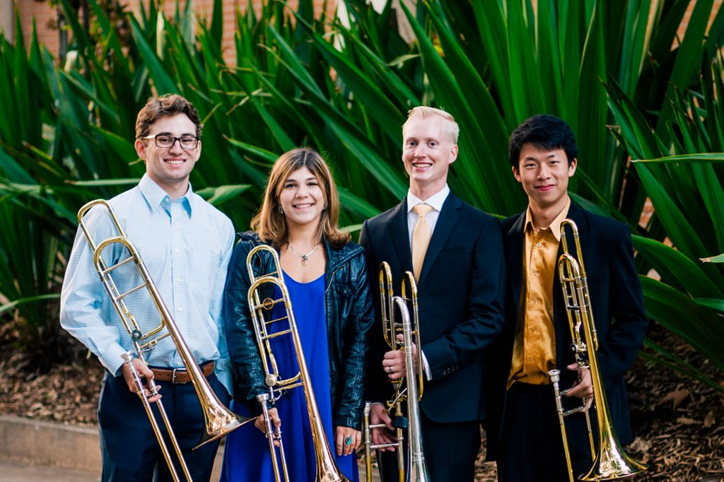 Gluck Trombone Quartet The Ucla Herb Alpert School Of Music